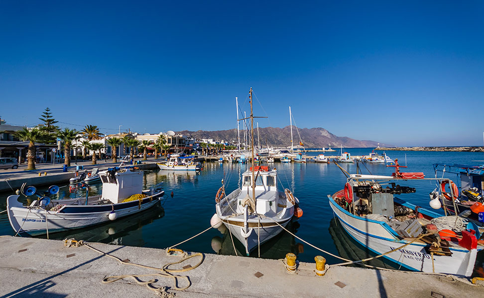 Boats in Port of Kardamena - Kos Island