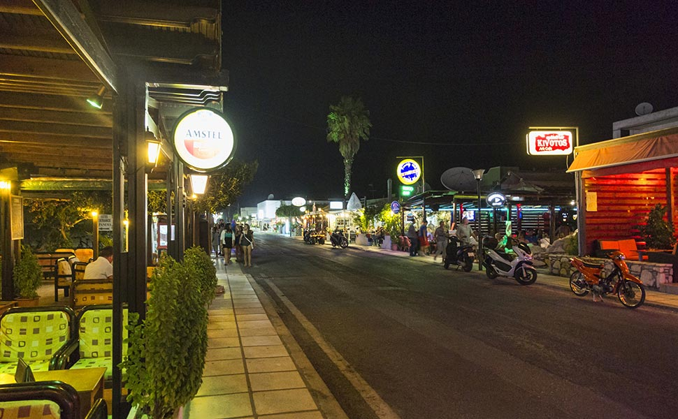 Tigaki night view - Kos Island