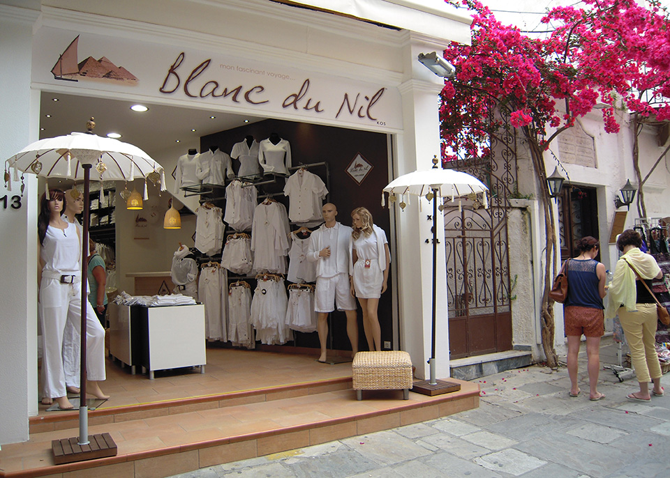 Blanc Du Nil Shopping In Kos Island Kos4all Com