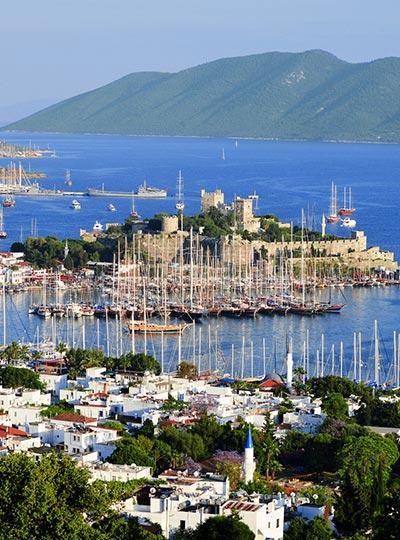 View of Bodrum harbor - Turkey