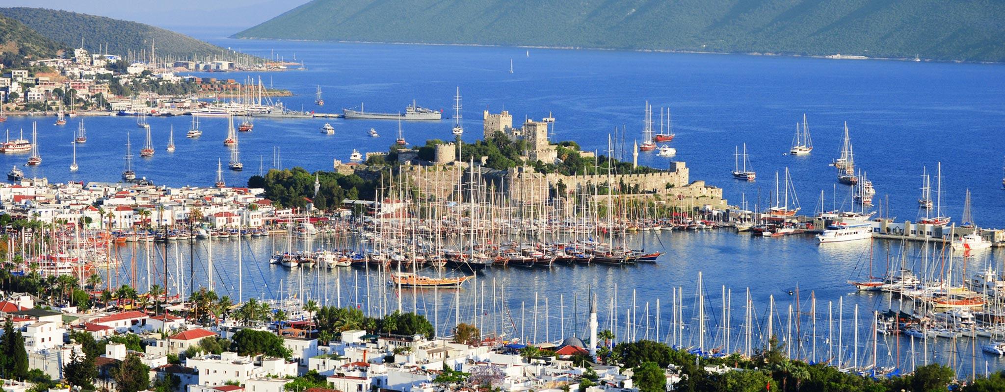 View of Bodrum harbor
