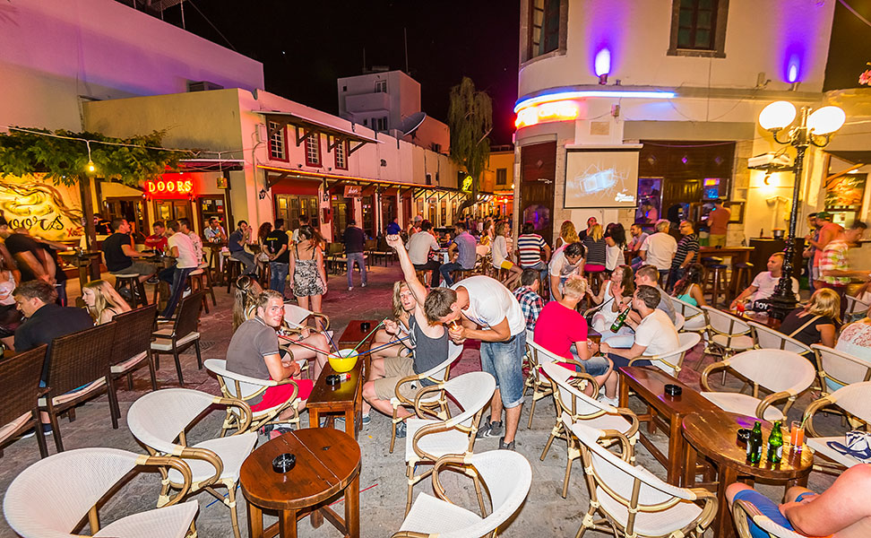 Bar street in Kos Nightlife for young people Kos4allcom