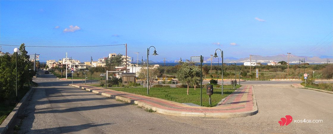 Zipari Kos Island. Small square