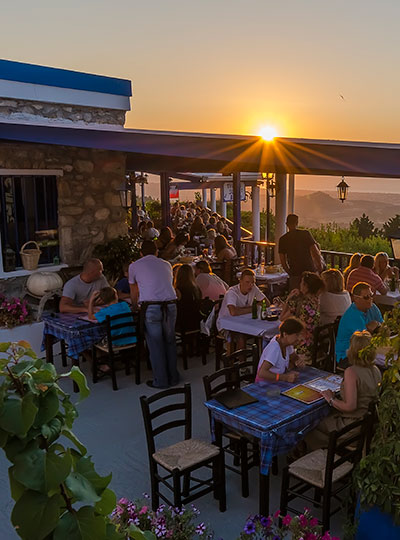 Sunset Balcony Taverna in Zia